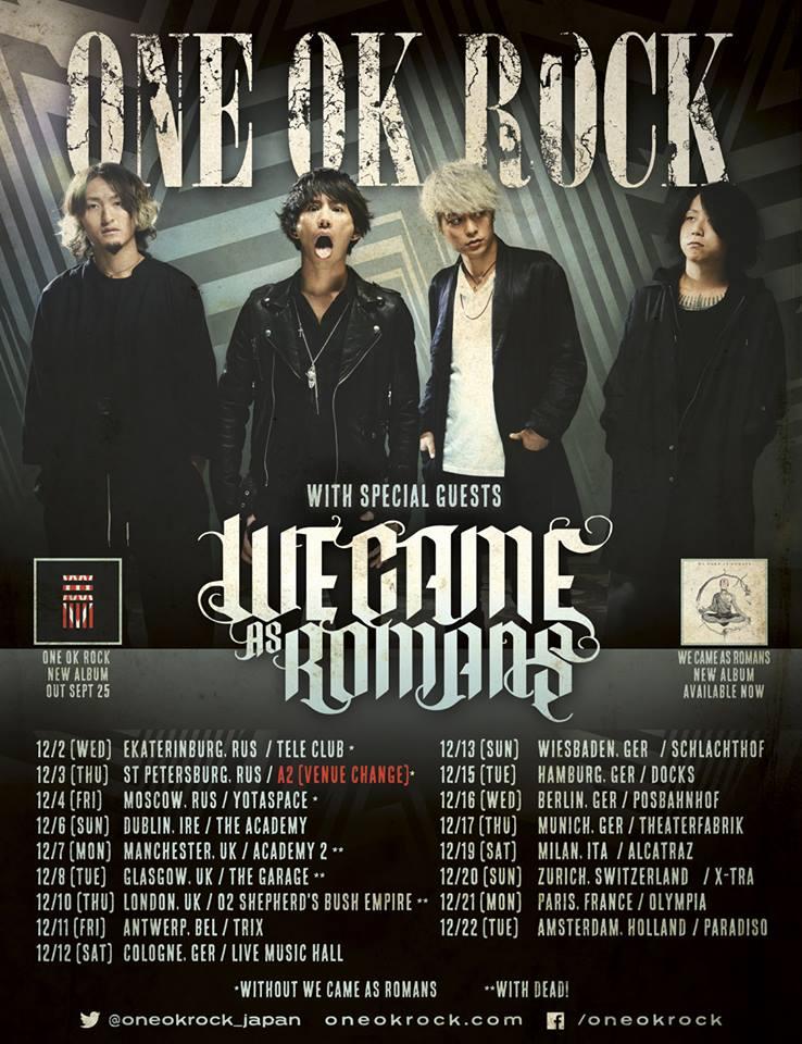 we came as romans one ok rock concert 21-12-15 Olympia Paris