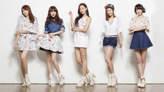 Groupe de cinq filles