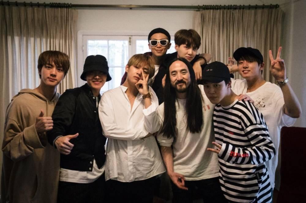 """Résultat de recherche d'images pour """"BTS collabore avec le DJ américain Steve Aoki"""""""