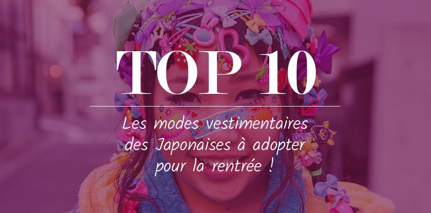 Top 10 modes Japonaises
